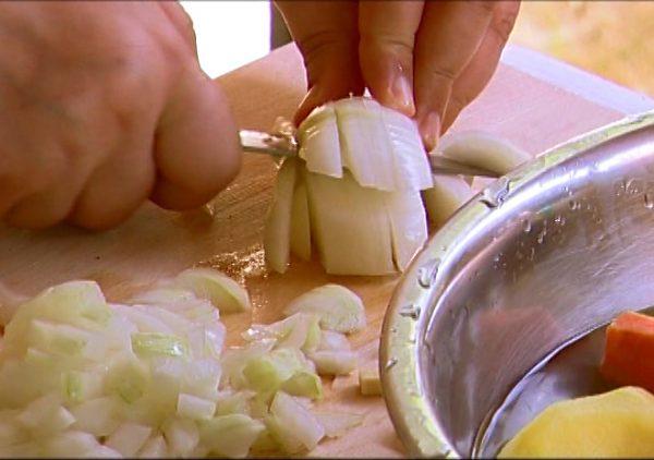 tocat ceapa pregatire legume