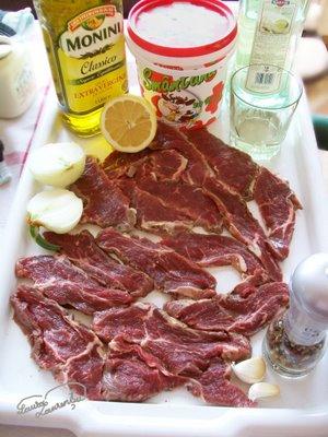 Preparare Felii de vita cu sos de vermut alb 1