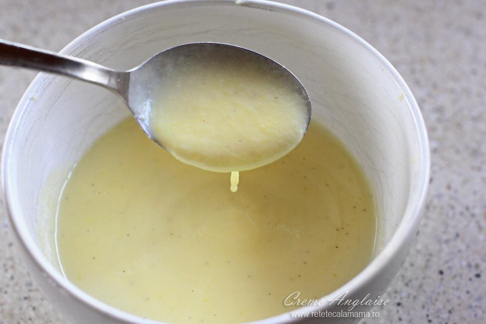 sos de vanilie creme anglaise