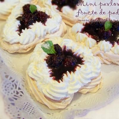 Mini pavlova cu fructe de padure