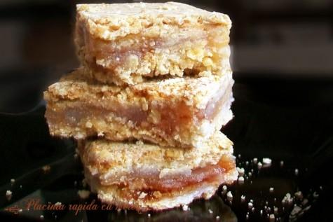 Placinta rapida cu mere si cereale