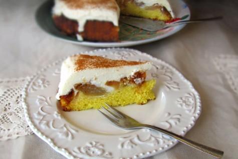 Prajitura cu mere caramelizate si crema de branza