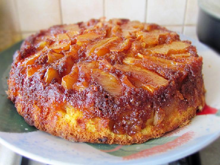 prajitura cu mere rasturnata