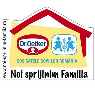 Dr. Oetker -  SOS Satele Copiilor, parteneriat pentru speranta si  bucurie in familie