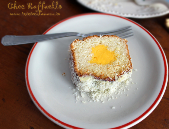 Preparare Chec Raffaello cu cocos si crema de vanilie 11