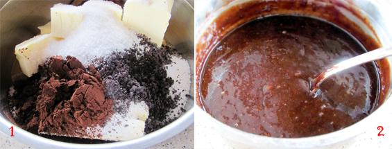Preparare Prajitura Sumegi - foi de bezea cu nucă si crema cu cacao 6