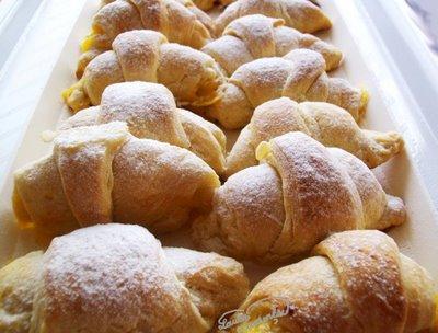 croissants din aluat foietaj rapid, facut in casa