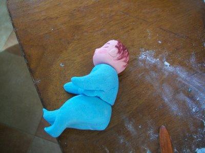 Preparare Decoratiune pentru tort - bebelas 11