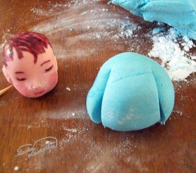 Preparare Decoratiune pentru tort - bebelas 4