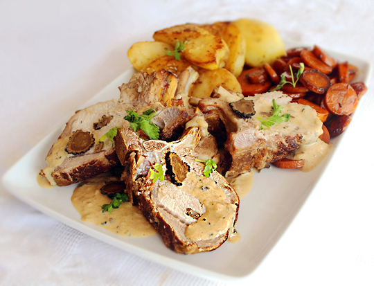 reteta friptura de porc cu trufa neagra