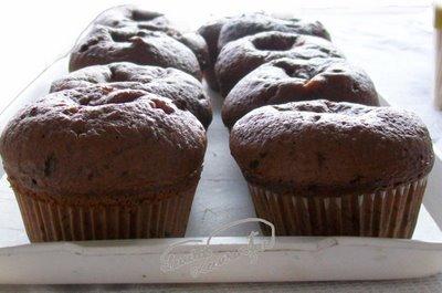 Preparare Muffins cu crema de branza si visine 12