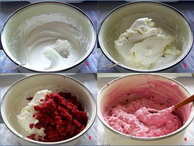 Preparare Muffins cu crema de branza si visine 6