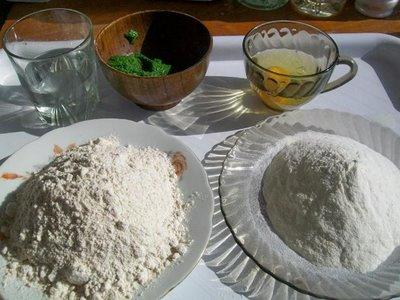 Preparare Paste integrale verzi 1