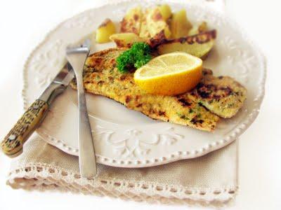 Peste in crusta aromata, la tigaia Dry Cooker