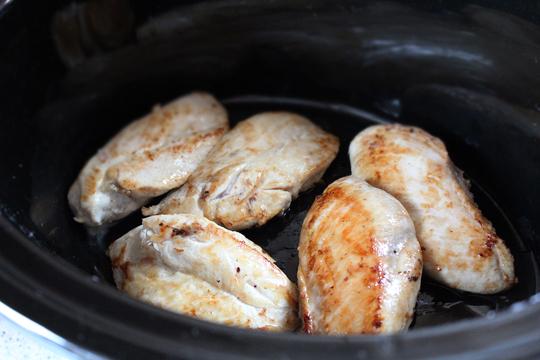 Preparare Piept de pui cu smantana si tarhon 3
