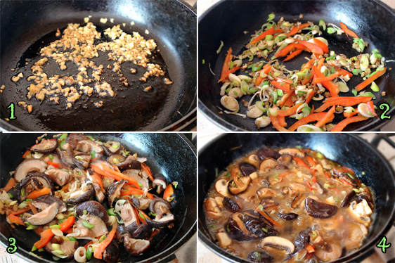 Preparare Salata calda cu ciuperci shiitake si piept de rata 5