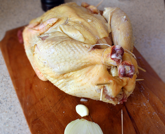 Preparare Pui la cuptor cu gutui 5