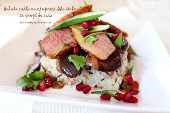 reteta salata cu piept de rata si ciuperci shiitake