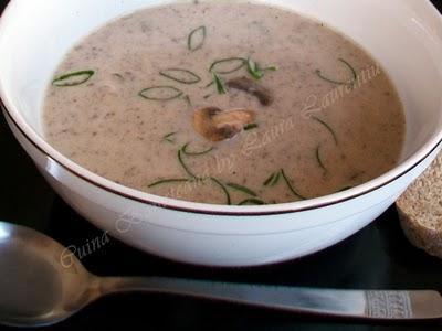 Preparare Supa crema de ciuperci 9