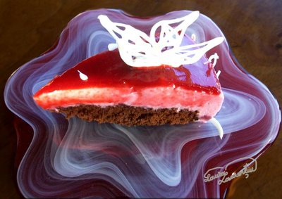 Preparare Tort cu zmeura si iaurt -Fluturi albi in zmeuris- 23