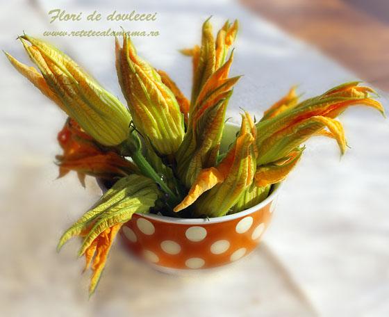 Flori de dovlecei umplute