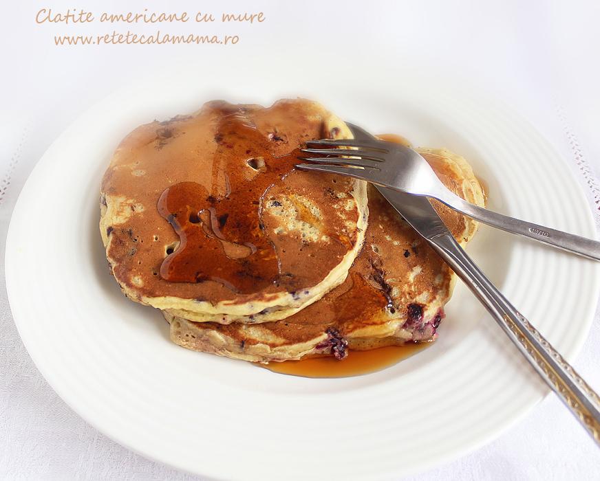 pancakes, clatite americane cu mure 1-