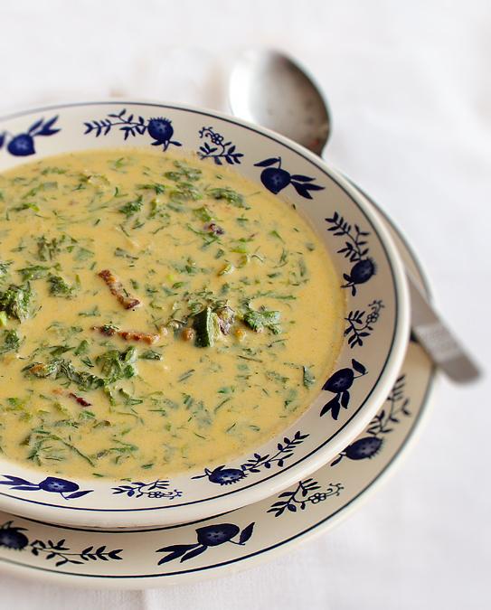 ciorba de salata verde, reteta ciorba de salata verde 2