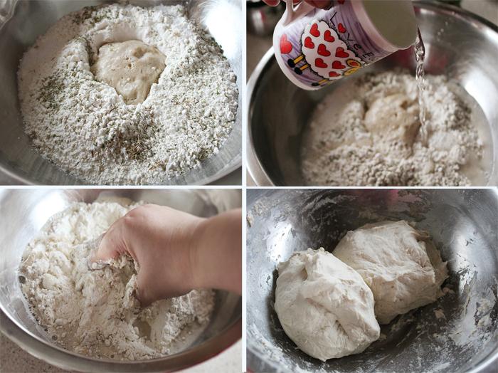 preparare paine cu ceapa si paine cu masline 2