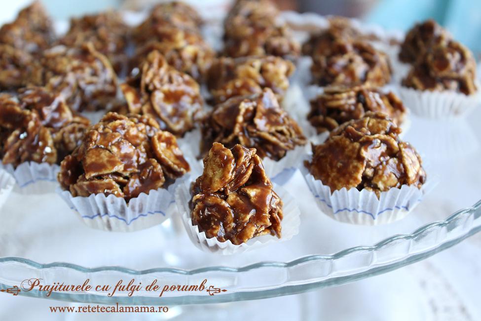 Prăjiturele cu fulgi de porumb