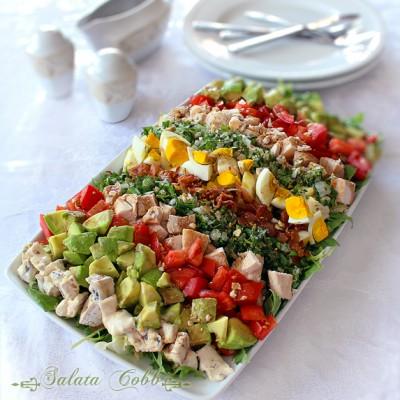 salata cobb, reteta salata cobb cu piept de pui si avocado