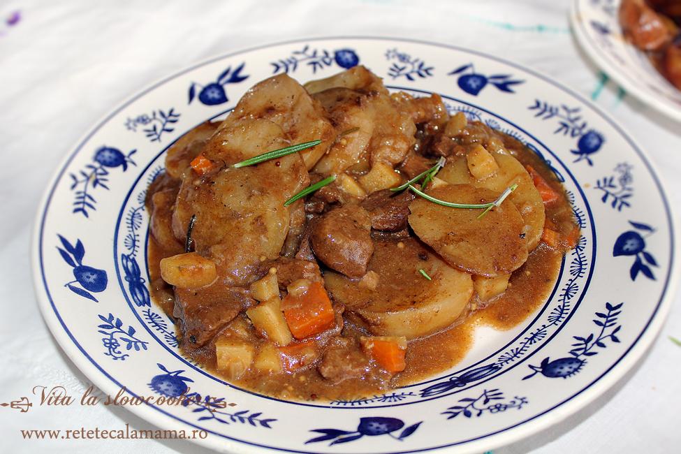 vita la slow cooker 2, carne de vita slowcooker reteta