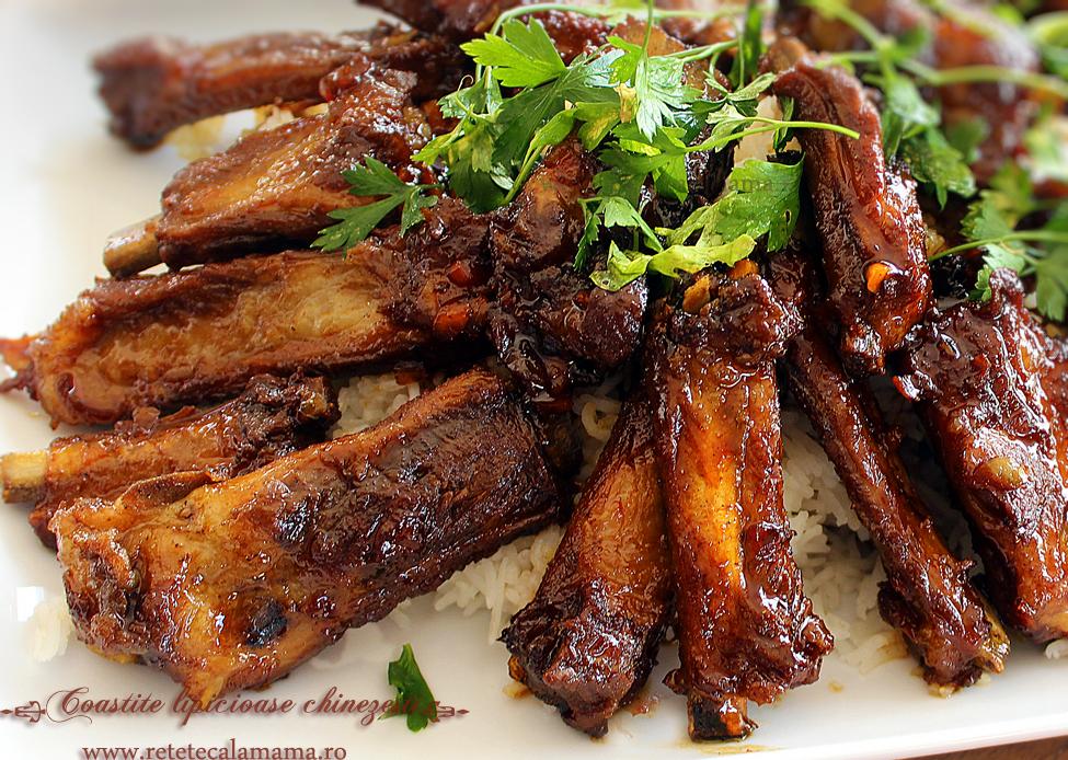 costite chinezesti lipicioase, reteta coaste de porc in stil chinezesc