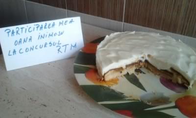 Prajitura cu mere caramelizate si crema de branza dulce by oana inimosu