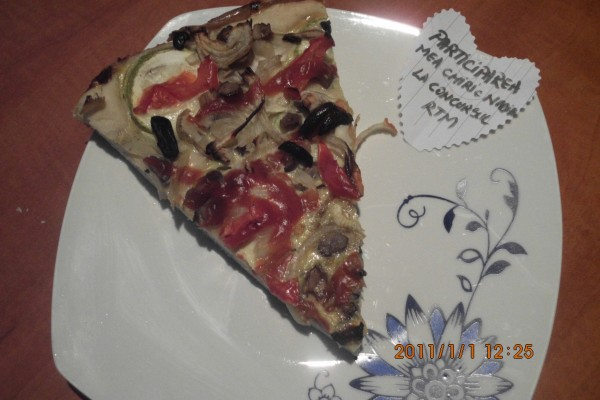 Reteta video: Pizza vegetariana – de post by chiricnadia