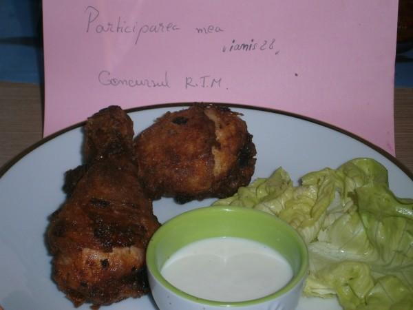 Pulpe si aripioare de pui in crusta crocanta, fried chicken by ianis28