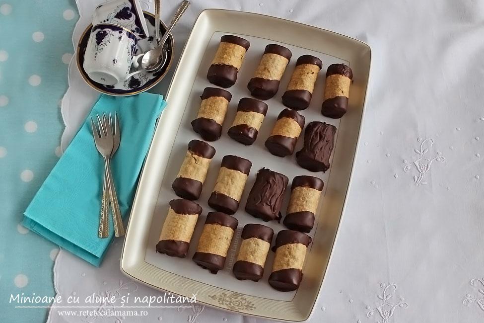Minioane cu alune si napolitana