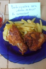 Pulpe si aripioare de pui in crusta crocanta, fried chicken by dana_radu23