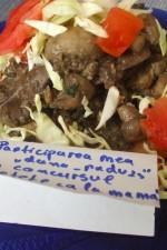Ficatei de pui cu ciuperci flambati, pe toast – video –  by dana_radu23