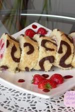 Rulada cu capsuni si crema cheesecake by stefanpizza