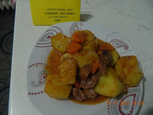 Vita cu  morcovi si cartofi la slowcooker by aryana