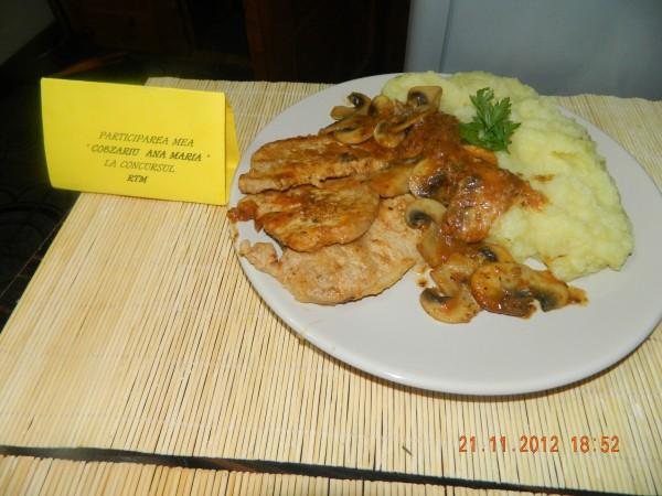 Escalop de porc cu ciuperci by aryana