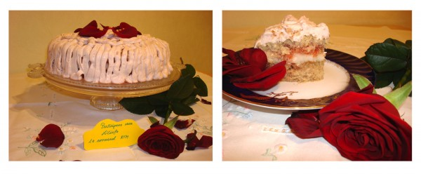 Prajitura cu litchi si trandafiri by Liliuta