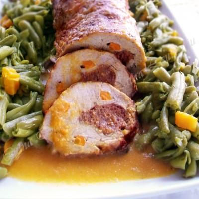 Friptura la cuptor din cotlet de porc umplut