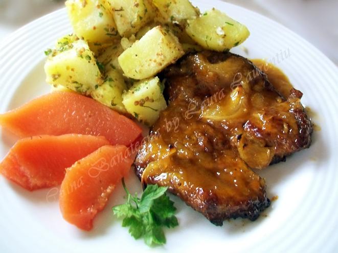 friptura din ceafa de porc cu glazura