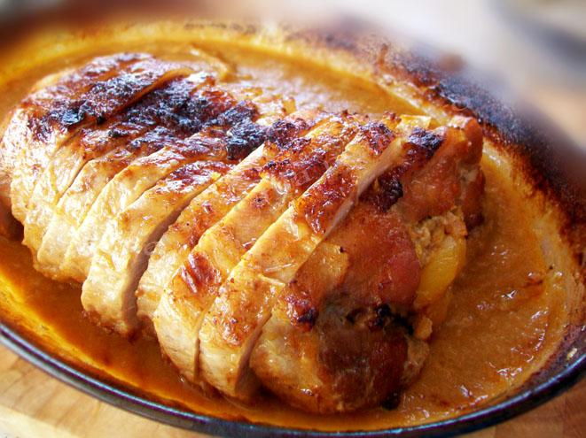 friptura de porc la cuptor cu fructe uscate 7