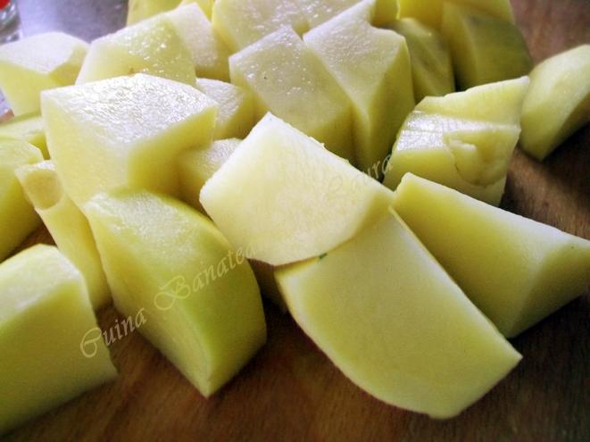 garnitura de cartofi cu mustar si usturoi 2