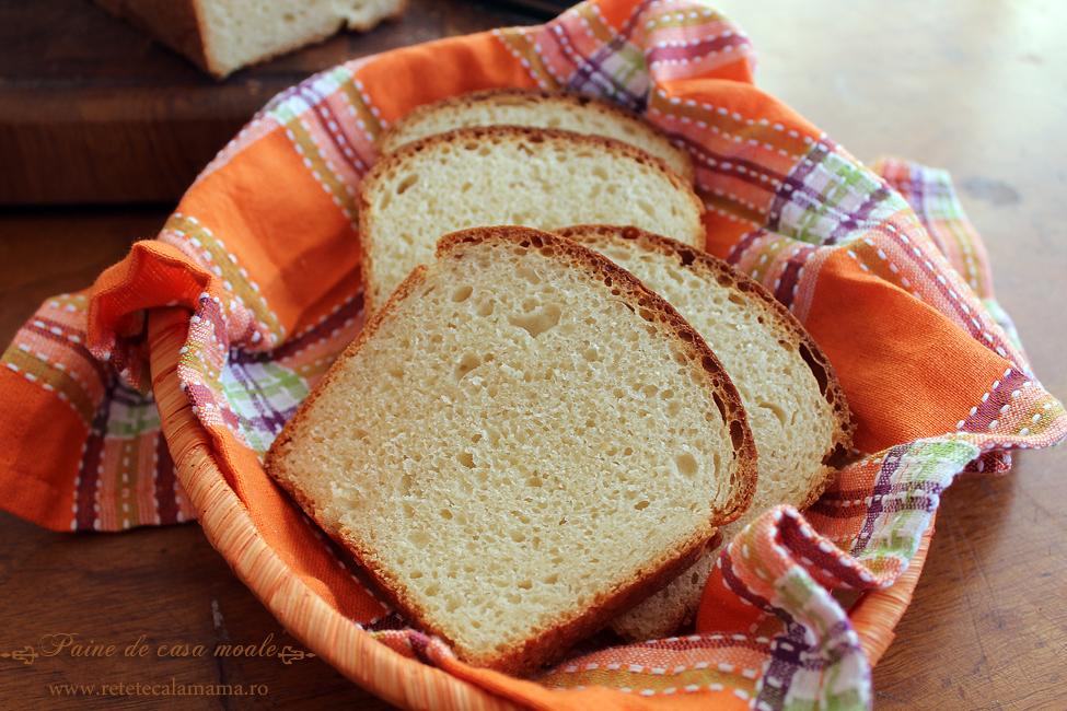 paine de casa moale pentru sandviciuri, reteta paine de casa