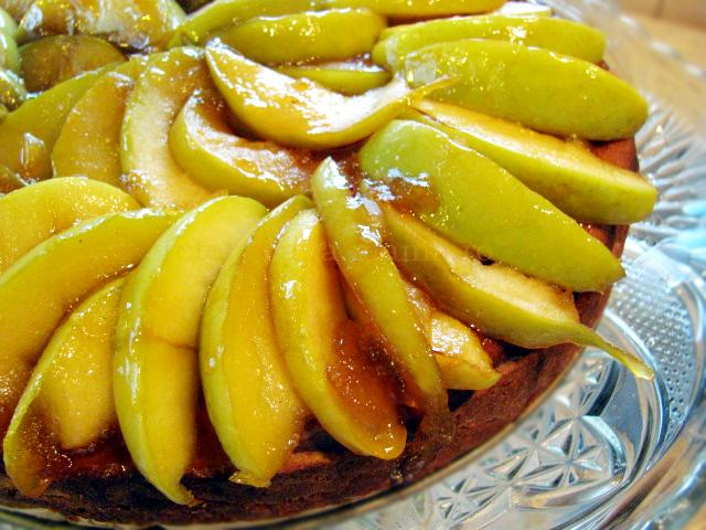 prajitura cu branza si mere caramelizate 6