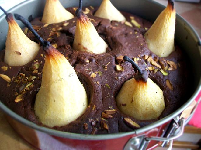 prajitura cu pere si ciocolata 6
