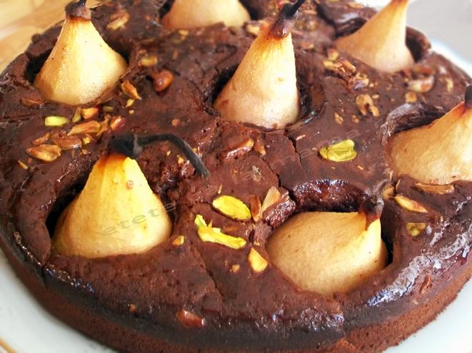 Pajitura cu pere si ciocolata